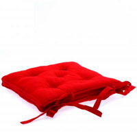 Lot de 2 Galettes/coussins de chaise rouges