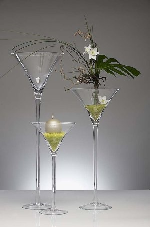 Verre vase martini boutique - Centre de table verre martini ...